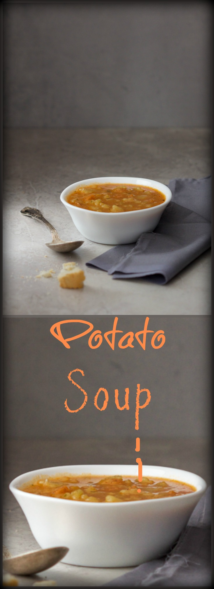 Here's a fantastic potato soup (krompir supa) recipe! This one is so rich and thick, it can easily become a meal of its own when accompanied witha big chunk of bread.
