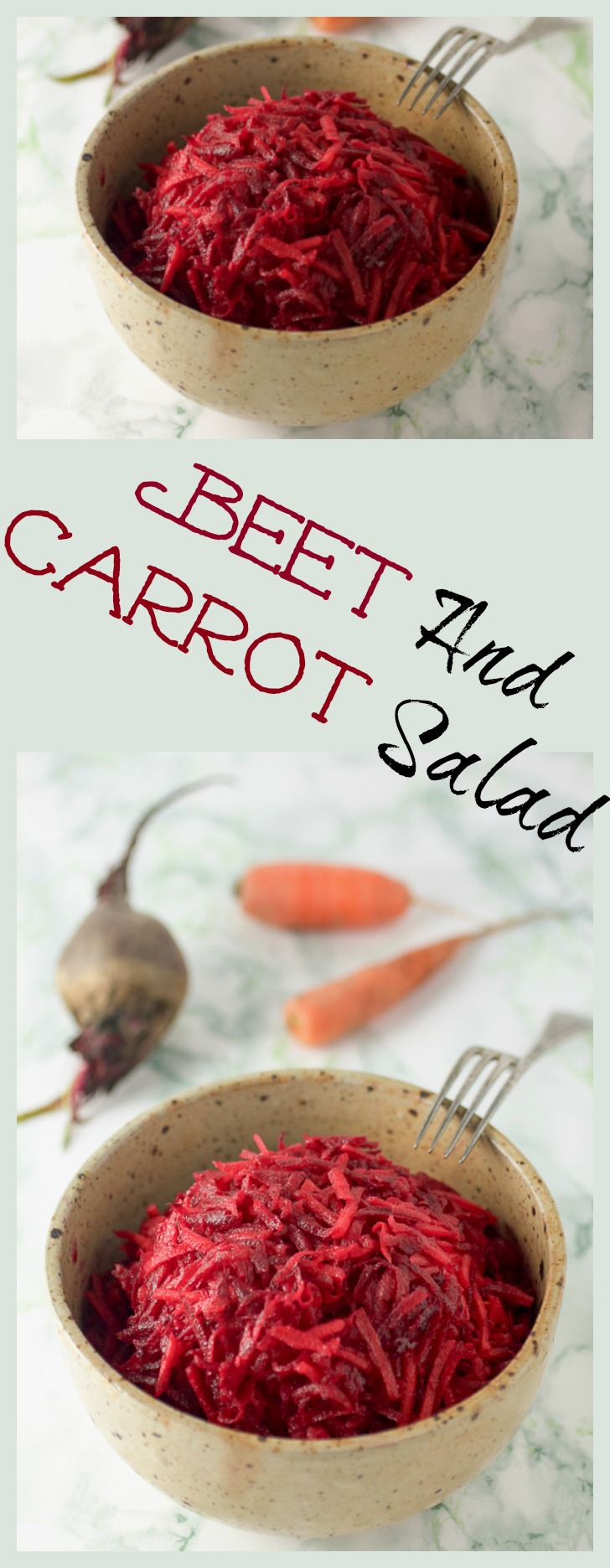 Grated beet and carrot salad: the healthiest meal you'll have all week.
