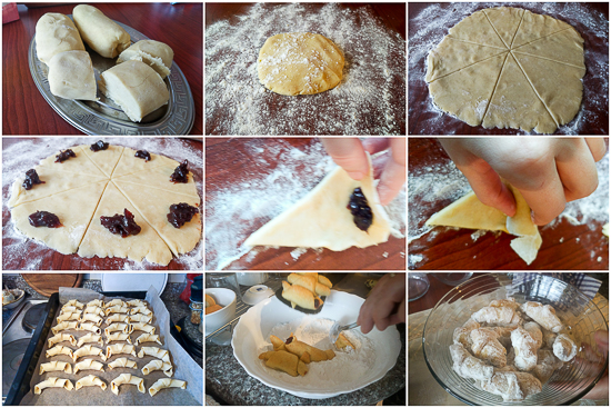 Perfect three ingredient cookie (batter, sugar and flour) filled with jam and baked. Classic combo for the win!